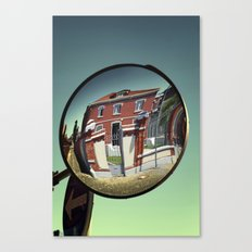 Street mirror. Canvas Print