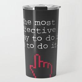 Amelia Earhart quote Travel Mug