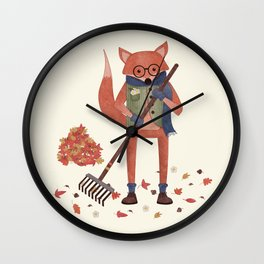Ferdinand the Fall Fox Wall Clock