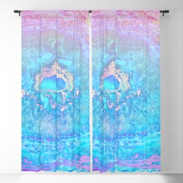 Ether Agate Geode Blackout Curtain