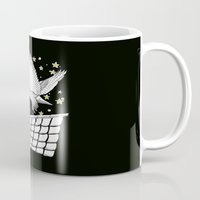 hedwig Mugs featuring Zentangle Magical Messenger Owl by Vermont Greetings