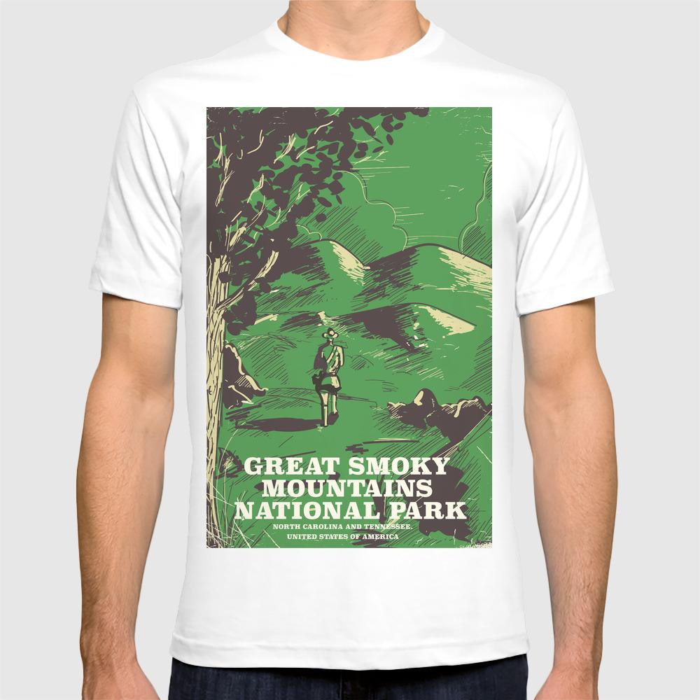 Hiking Shirt National Park Shirt Great Smoky Mountains Great Smoky Mountains National Park Shirt Camping Shirt Tennessee Shirt