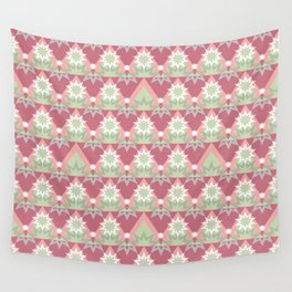 Pale pink abstract striped ornament . Wall Tapestry