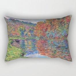 Le bras de Jeufosse, Autumn by Claude Monet Rectangular Pillow