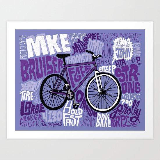 All My Bikes 21: MKE Bruiser Prototype Art Print
