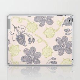 Modern vintage mint green ivory gray floral Laptop & iPad Skin
