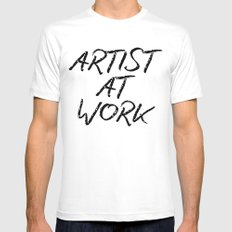 Artist At Work X-LARGE White Mens Fitted Tee