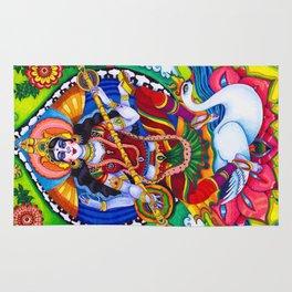 Saraswati Goddess Rug