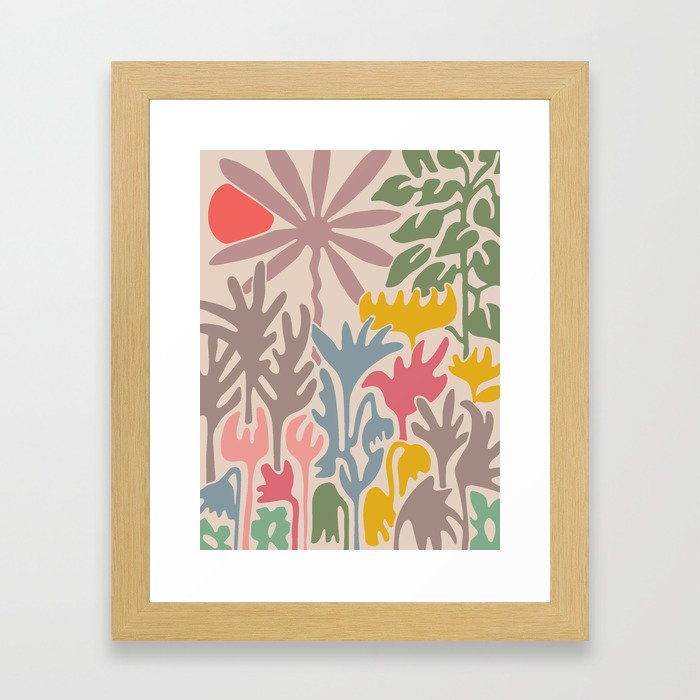EDEN Abstract Floral Print Framed Art Print