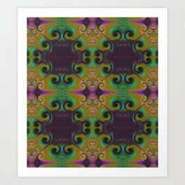 Spirals Royal Art Print
