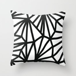 Modern Black and White geometric pattern #abstractart #decor Throw Pillow