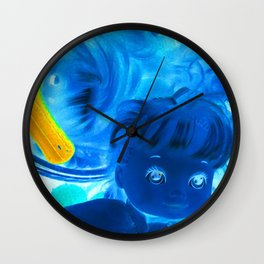 baby why so blue? Wall Clock