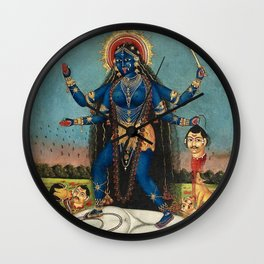 Hindu Destruction Goddess Kali 24 Wall Clock