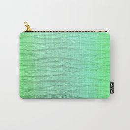 Abstract Pattern In Green Washed Out Iridescent Color Carry-All Pouch