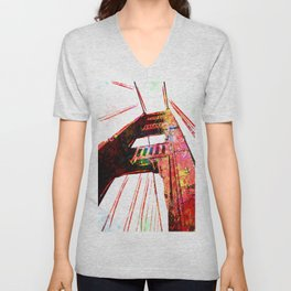 Golden Gate Bridge - San Francisco - Pop Art Unisex V-Neck
