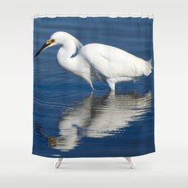 Bird series: Snowy Egret Shower Curtain