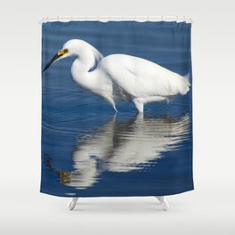 Bird series: Snowy Egret Shower Curtain