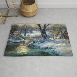 A Winter's Dream landscape painting by C. Vickery Rug