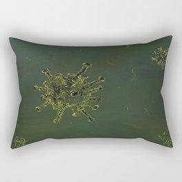 Virus, biology, oil painting by Luna Smith, LuArt Gallery, nature Rectangular Pillow
