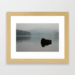 Ladybower Reservoir - The rock Framed Art Print