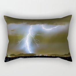 Into the Arizona Monsoon Evening Rectangular Pillow