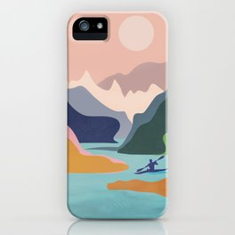 River Canyon Kayaking iPhone Case