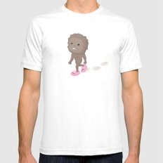 Accidental Legends: Bigfoot White SMALL Mens Fitted Tee