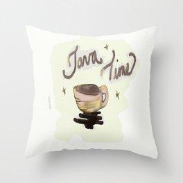 Java Time Throw Pillow