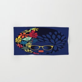 Afro Diva : Sophisticated Lady Blue Hand & Bath Towel