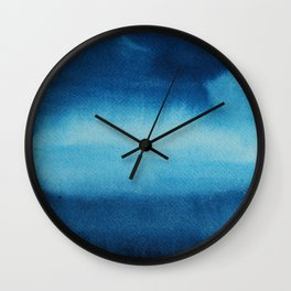 Indigo Ocean Dreams Wall Clock