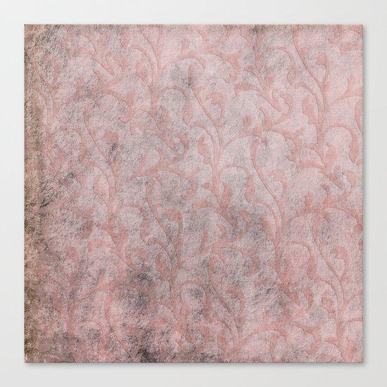 Dirty princess - Elegant Damask pattern with grunge effect Canvas Print