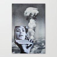 kim kardashian Canvas Prints featuring Kim Kardashian by John Turck