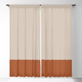 Minimalist Solid Color Block 1 in Putty and Clay Blackout Curtain