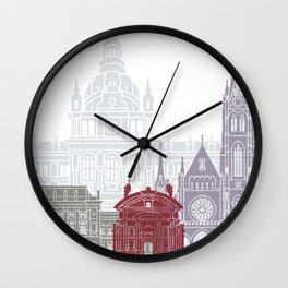 Graz skyline poster Wall Clock