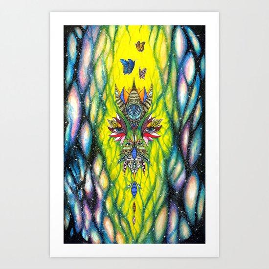 Blossom Universe Art Print
