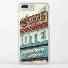 Sands Motel Clear iPhone Case