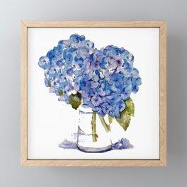 Hydrangea painting Framed Mini Art Print