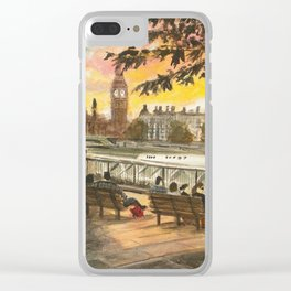 Evening on the South Bank, London Clear iPhone Case