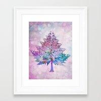 christmas tree Framed Art Prints featuring Christmas Tree by Klara Acel