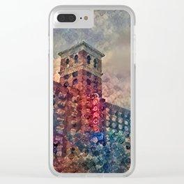 Ponce Dream Spirals Clear iPhone Case