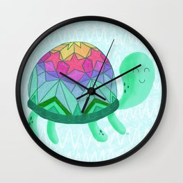 Rainbow Turtle Wall Clock