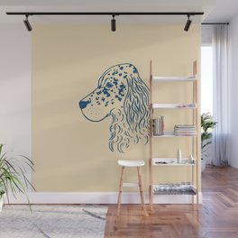 English Setter (Beige and Navy) Wall Mural