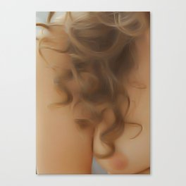 Wavy Hair Canvas Print