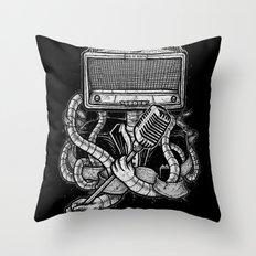 Rocker robot Throw Pillow