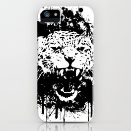 Roaring leopard iPhone Case