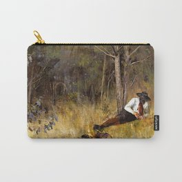 Frederick McCubbin - While the Billy Boils - Australian Oil Painting Carry-All Pouch