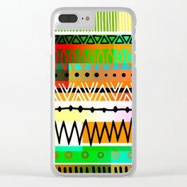 Geometric Tribal Pattern Clear iPhone Case