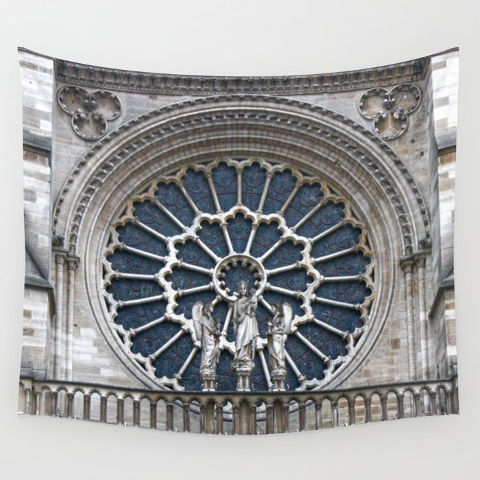 Rose window Wall Tapestry