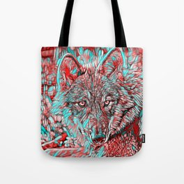 ColorMix Wolf Tote Bag