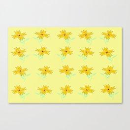 yellow vintage feel Canvas Print